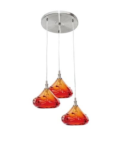 Viz Art Glass Ambrosia 3 Light Pendant [Amber]