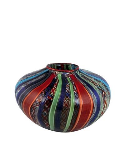 Viz Art Glass Hand Blown Vase, Multi
