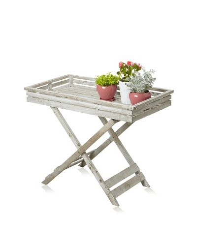 Wood Tray on Stand