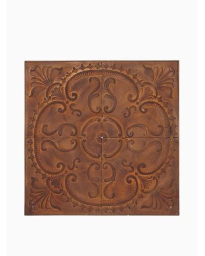 Arty Flower Wall Piece, Rust