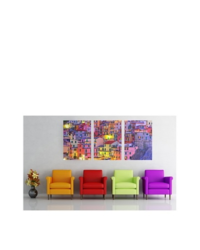 Colorful Town Panoramic Decals