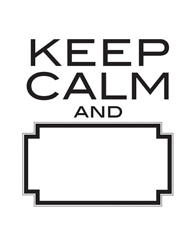 Keep Calm Dry-Erase Wall Quote