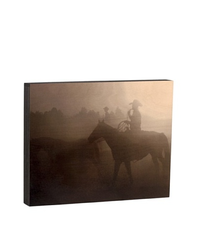 "Walnut Hollow ""Cowboy Sundown"" Wooden Shadowbox Plaque"