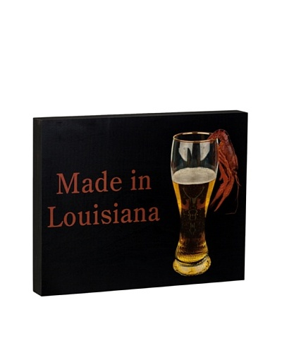 Walnut Hollow Made in Louisiana Wooden Shadowbox Plaque