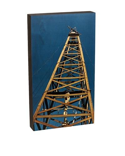 """Walnut Hollow """"Oil Derrick Summit"""" Wooden Shadowbox Plaque"""