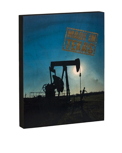 Walnut Hollow Pump Jack/Made in Texas Wooden Shadowbox Plaque