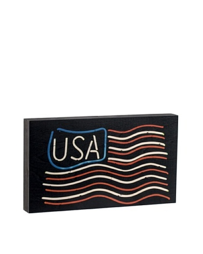 "Walnut Hollow ""USA"" Wooden Shadowbox Plaque"