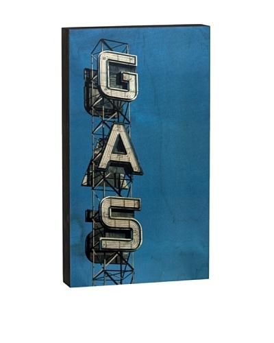 "Walnut Hollow ""Gas Sign Summit"" Wooden Shadowbox Plaque"