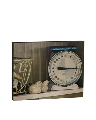 Walnut Hollow Vintage Kitchen Scale Wooden Shadowbox Plaque
