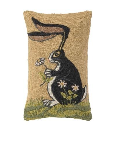 Warren Kimble Bunny with Daisy Hook Pillow