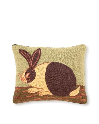 Warren Kimble Hook Pillow, Cozy Bunny, 14 x 18