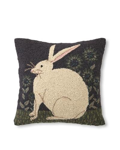 Warren Kimble Hook Pillow, Hare w/Sunflowers, 16 x 16