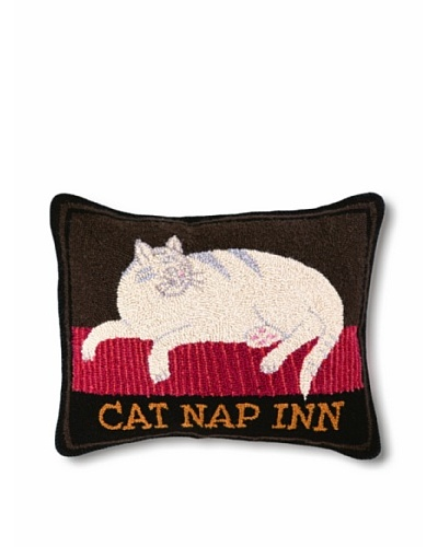 Warren Kimble Hook Pillow, Cat Nap Inn, 16 x 20