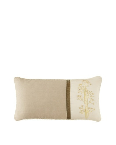 "Waterford Linens Kerrigan Decorative Pillow, Cream/Taupe, 11"" x 22"""
