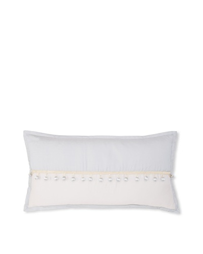 """Waterford Linens Kelly Decorative Pillow, Sea Blue, 11"""" x 22"""""""