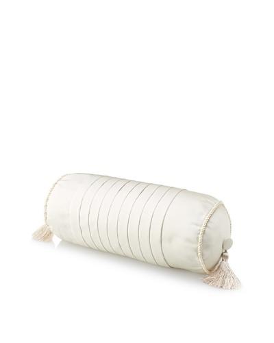 "Waterford Linens Kerrigan Decorative Neckroll Pillow, Cream/Taupe, 6"" x 15"""