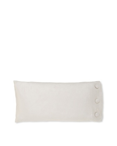 "Waterford Linens Silvie Decorative Pillow, Grey, 11"" x 22"""