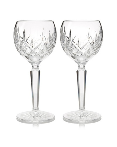 Waterford Pair of Lismore Hock Wine Glasses
