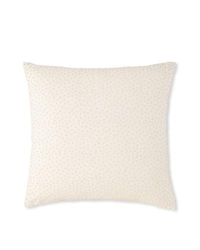 Waterford Linens Cassidy Decorative Pillow, Ecru/Grey, 20″ x 20″