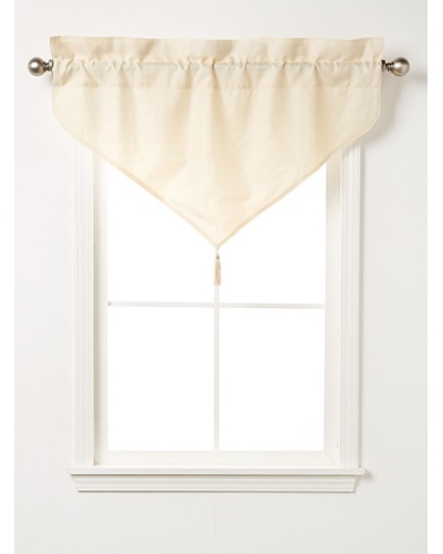 "Waterford Linens Kerrigan Ascot Valance, Cream/Taupe, 40"" x 25"""
