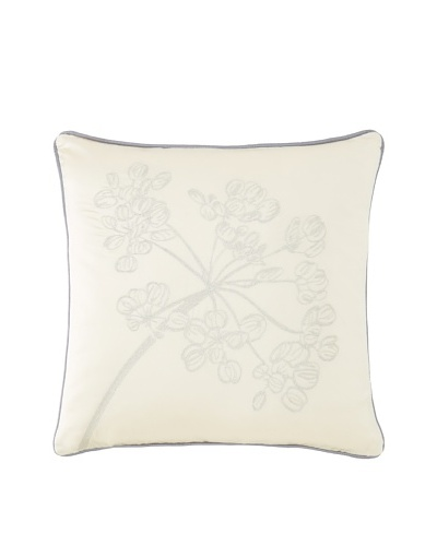"Waterford Linens Cassidy Decorative Pillow, Ecru/Grey, 18"" x 18"""