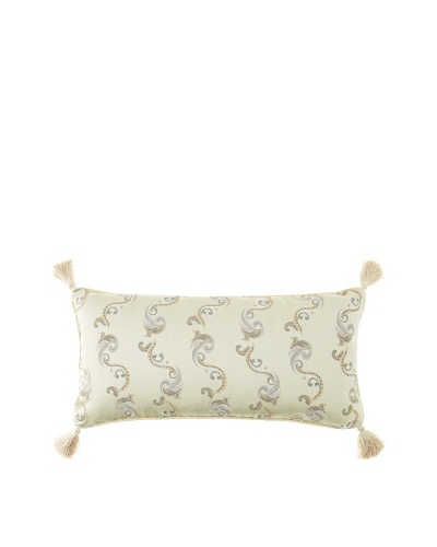 "Waterford Linens Kerrigan Decorative Pillow, Cream/Taupe, 12"" x 24"""