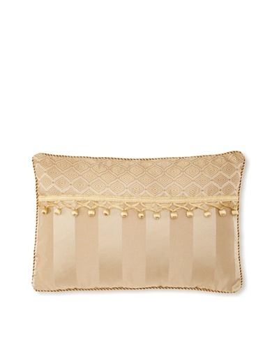 "Waterford Linens Anya Decorative Pillow, Gold, 12"" x 18"""