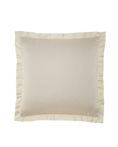 Waterford Linens Kerrigan Euro Sham, Cream/Taupe, 26 x 26