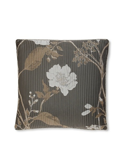Waterford Linens Silvie Decorative Pillow, Grey, 16 x 16
