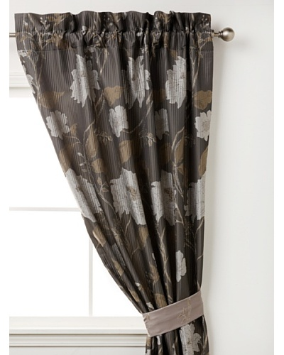 Waterford Linens Silvie Curtain Panel, Grey, 50 x 84