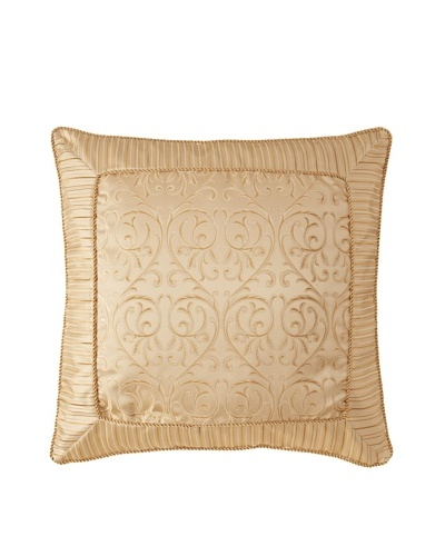 Waterford Linens Anya Euro Sham, Gold, 26 x 26