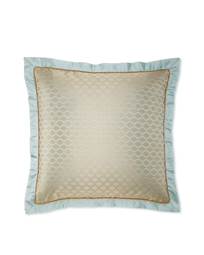 "Waterford Linens Elenora Euro Sham, Blue, 26"" x 26"""