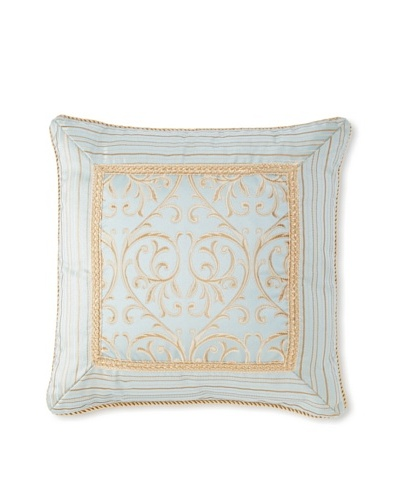 Waterford Linens Elenora Decorative Pillow, Blue, 18 x 18