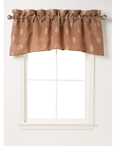"Waterford Linens Callum Scalloped Valance, Spice, 55"" x 18"""