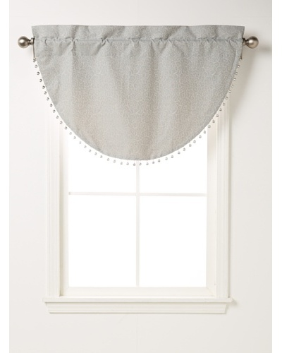 "Waterford Linens Kelly Cascade Valance, Sea Blue,  40"" x 25"""
