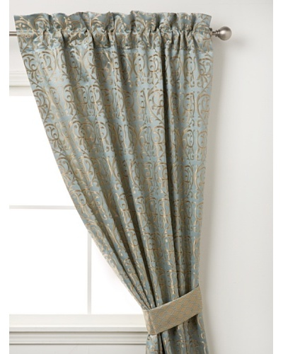 "Waterford Linens Elenora Curtain Panel, Blue, 50"" x 84"""