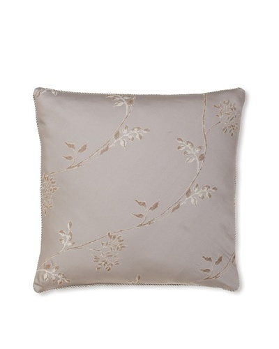 Waterford Linens Silvie Decorative Pillow, Grey, 18 x 18