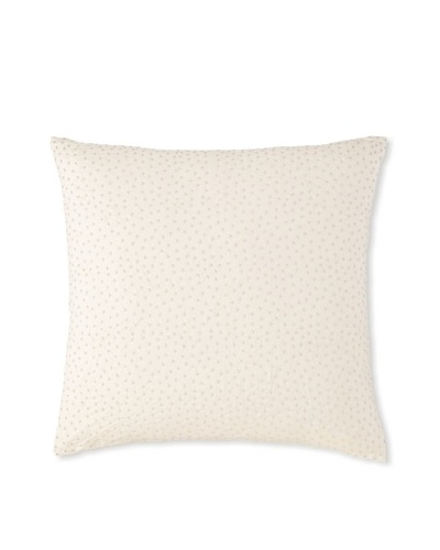 Waterford Linens Cassidy Decorative Pillow, Ecru/Grey, 20 x 20