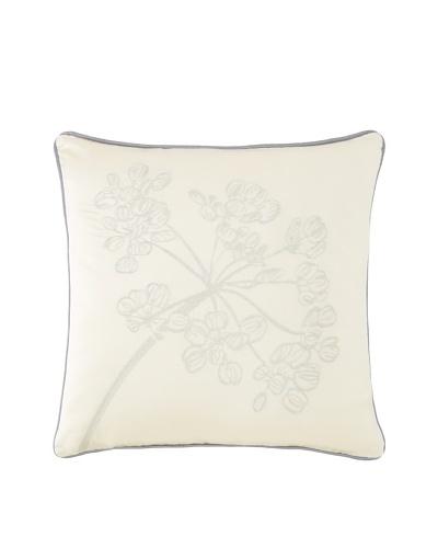 "Waterford Linens Cassidy Decorative Pillow, Ecru/Grey, 18"" x 18"""
