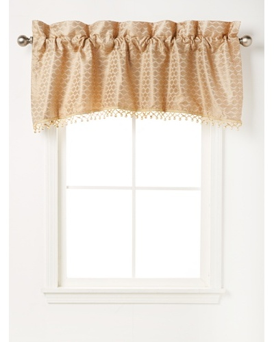 Waterford Linens Anya Tailored Valance, Gold, 55 x 18