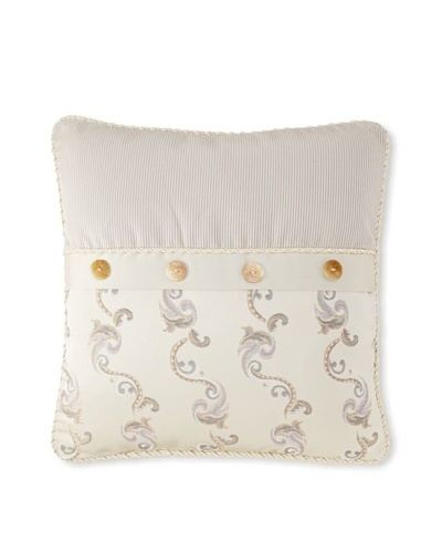 Waterford Linens Kerrigan Decorative Pillow, Cream/Taupe, 18 x 18