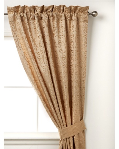 Waterford Linens Anya Curtain Panel, Gold, 50 x 84
