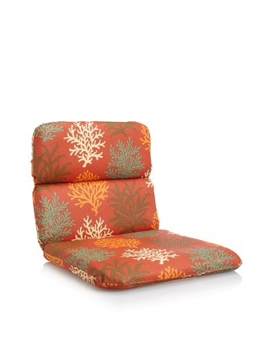 Waverly Sun-n-Shade Marine Life Rounded Chair Cushion [Mango]