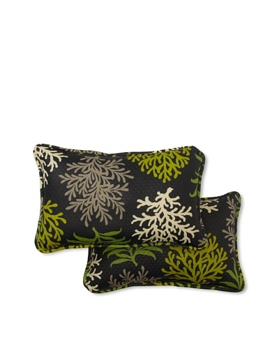 Set of 2 Marine Life Rectangle Decorative Throw Pillows [Onyx]