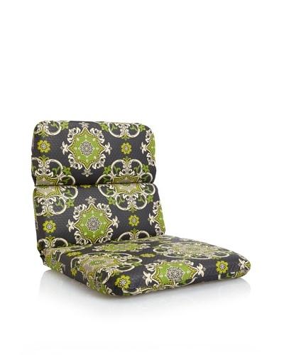 Waverly Sun-n-Shade Garden Crest Rounded Chair Cushion [Onyx]