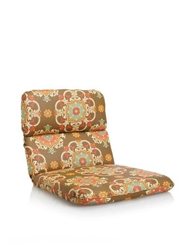 Waverly Sun-n-Shade Garden Crest Rounded Chair Cushion [Chocolate]