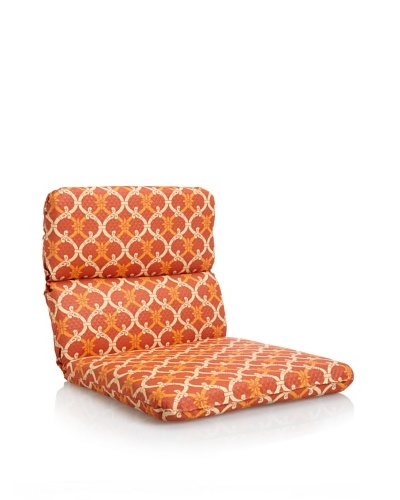 Waverly Sun-n-Shade Heat Wave Rounded Chair Cushion [Mango]