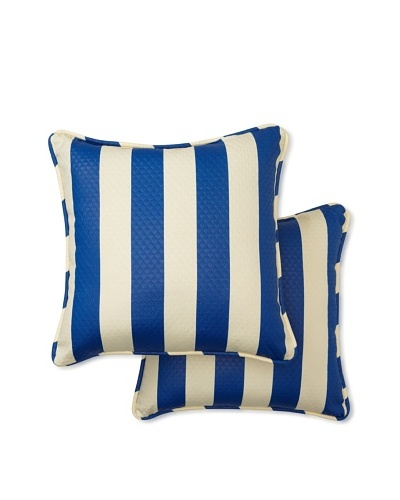 Set of 2 Solstice Square Decorative Throw Pillows [Marine]