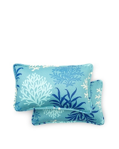 Set of 2 Marine Life Rectangle Decorative Throw Pillows [Pool]