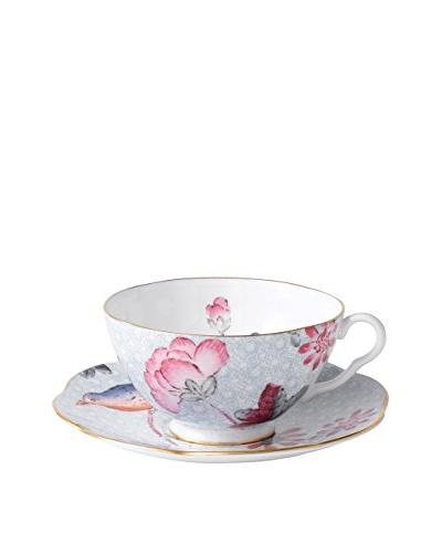 Wedgwood Cuckoo Teacup & Saucer Set, Blue